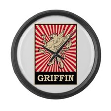 Pop Art Griffin Large Wall Clock