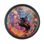 Odilon Redon Muse On Pegasus Large Wall Clock