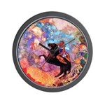 Odilon Redon Muse On Pegasus Wall Clock