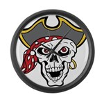 Pirate Skull Large Wall Clock