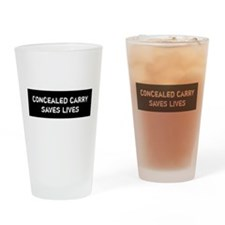 Concealed Carry Saves Lives Drinking Glass