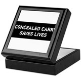 Concealed Carry Saves Lives Keepsake Box