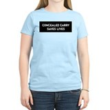 Concealed Carry Saves Lives T-Shirt