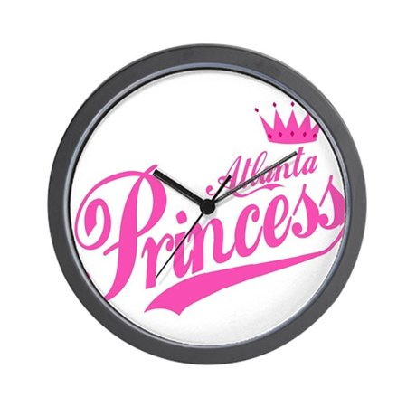 Atlanta Princess Wall Clock