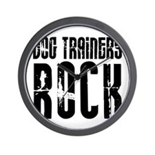 Dog Trainers Rock Wall Clock