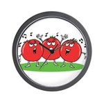 Singing Tomatoes Wall Clock