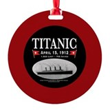Titanic Ghost Ship (bl/wide red) Ornament/Ri