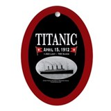 Titanic Ghost Ship (bl/red) Oval Ornament Porcelai