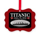 Titanic Ghost Ship (black/red) Ornament