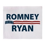Romney-Ryan Stars and Stripes Throw Blanket