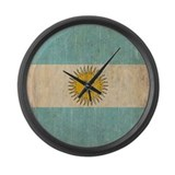Vintage Argentina Flag Large Wall Clock