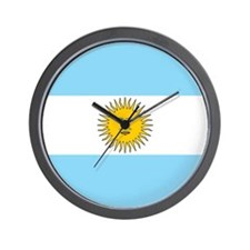 Argentina Flag Wall Clock