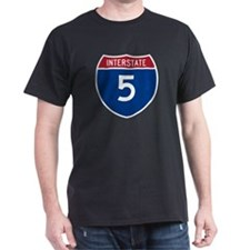 I-5 Highway Black T-Shirt