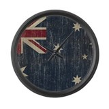 Vintage Australia Flag Large Wall Clock