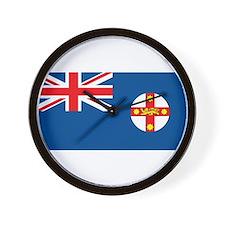 New South Wales Flag Wall Clock