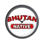 Bhutan Native Wall Clock