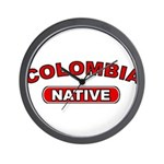 Colombia Native Wall Clock