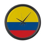 Colombia Flag Large Wall Clock