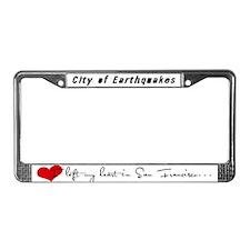 Heart Left License Plate Frame