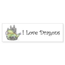I Love Dragons Bumper Bumper Sticker