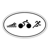 Triathlon Icons Decal