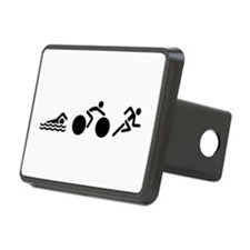 Swim Bike Run Icons Hitch Cover