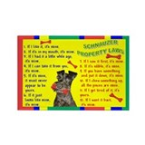 Unique Schnauzer items Rectangle Magnet (100 pack)