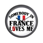 Somebody In France Wall Clock