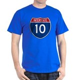 I-10 Highway Black T-Shirt