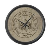Vintage India Large Wall Clock