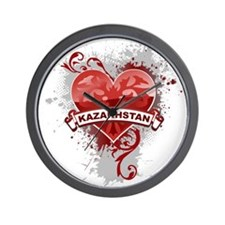 Love Kazakhstan Wall Clock