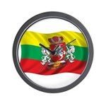 Wavy Lithuania Flag Wall Clock