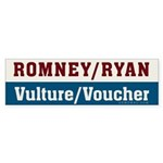 Romney Ryan Vulture Voucher Sticker (Bumper)