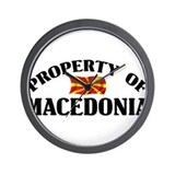 Property Of Macedonia Wall Clock