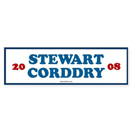 Stewart Corddry 2008 Bumper Sticker