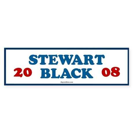 Stewart Black 2008 Bumper Sticker