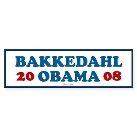 Bakkedahl Obama Bumper Sticker