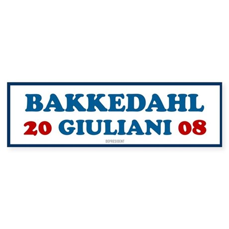 Bakkedahl Giuliani Bumper Sticker