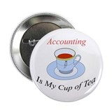 "Accounting is my cup of tea 2.25"" Button (10 pack)"