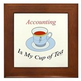 Accounting is my cup of tea Framed Tile