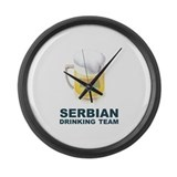 Serbian Drinking Team Large Wall Clock