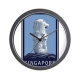 Singapore Merlion Wall Clock