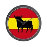 Spain Bull Flag Wall Clock