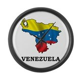 Map Of Venezuela Large Wall Clock