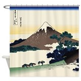Hokusai Inume Pass Koshu Shower Curtain