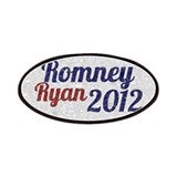 Romney Ryan 2012 Vintage Oval Sticker Patches