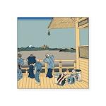 Hokusai Sazai Hall Square Sticker 3