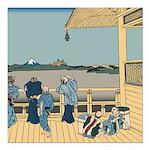 Hokusai Sazai Hall Square Car Magnet 3