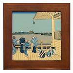 Hokusai Sazai Hall Framed Tile