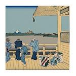 Hokusai Sazai Hall Tile Coaster